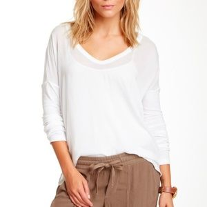 James Perse Boxy Dolman Long Sleeve Tee